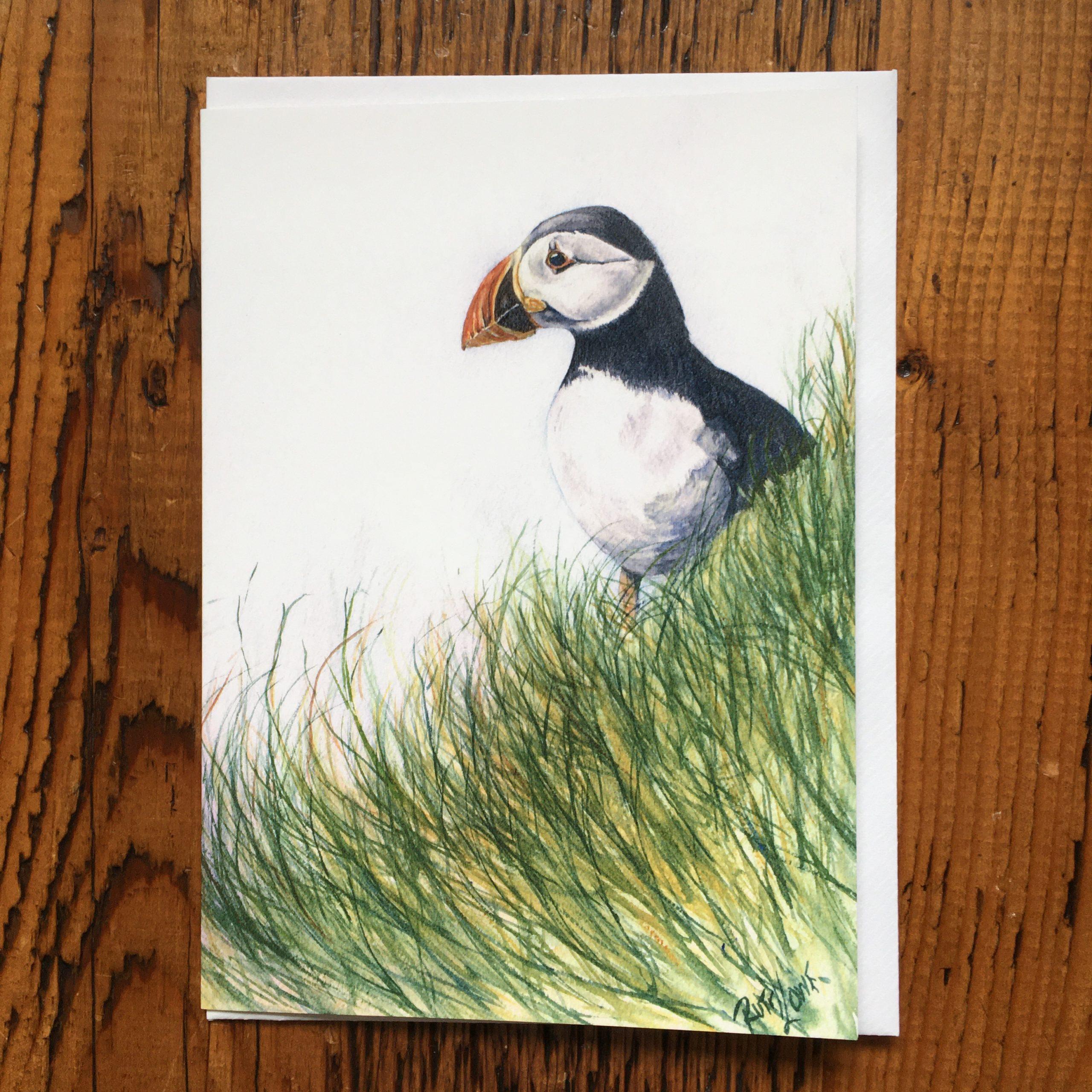 Lone Puffin Card