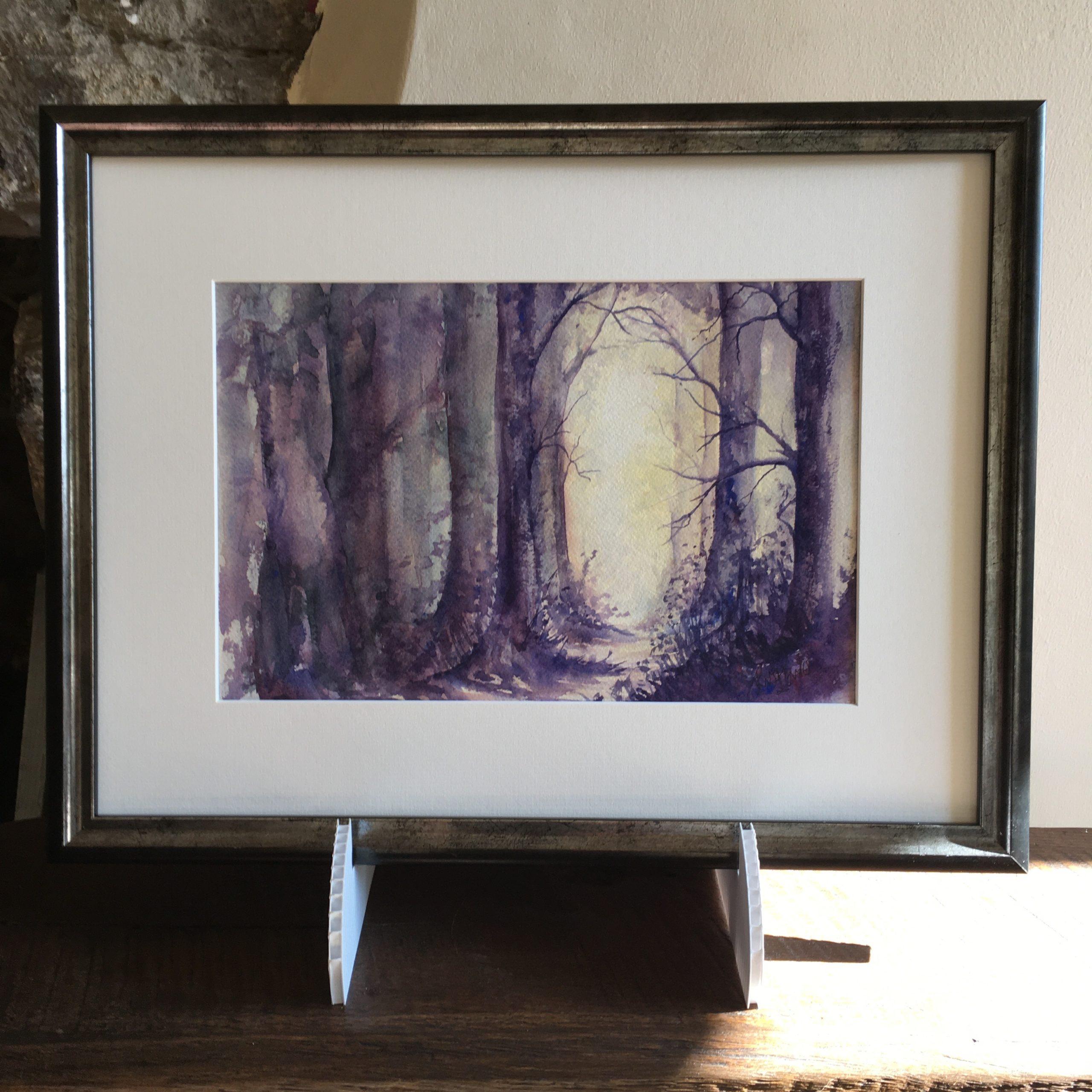 Sunlit Path framed